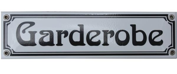 Garderobe Jugendstil 8 x 30 cm Emaille Schild Nr. 1266