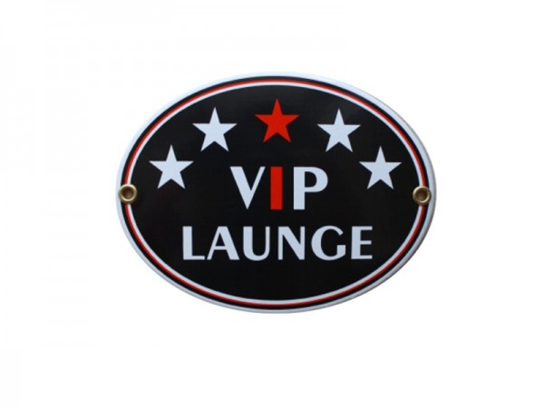 VIP Lounge Emaille Schild Oval Nr. 1748