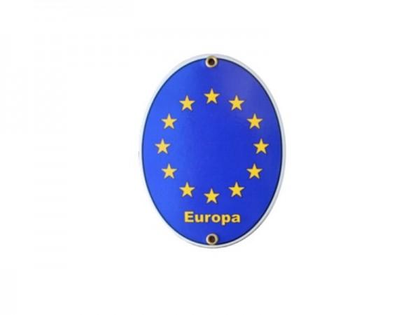 Europa Emaille Schild Nr. 1869