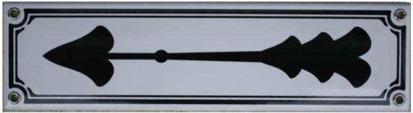 Pfeil Links/Rechts Jugendstil 8 x 30 cm Emaille Schild Nr. 1120