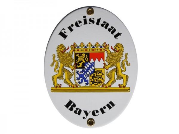 Freistaat Bayern Emaille Grenzschild Nr. 729