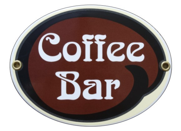 Coffee Bar Emaille Schild Oval Nr. 1641