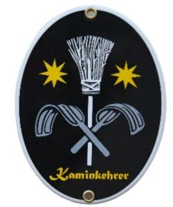Kaminkehrer Emaille Schild Oval Nr. 1656