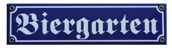 Biergarten Emaille Schild Straßenschild Nr. 821