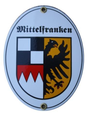 Mittelfranken Emaille Schild Nr. 7741