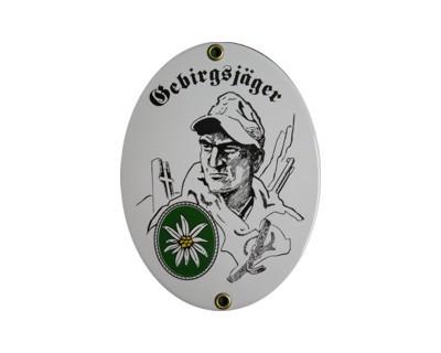 Gebirgsjäger Emaille Schild (ohne Holzrahmen) Nr. 2003