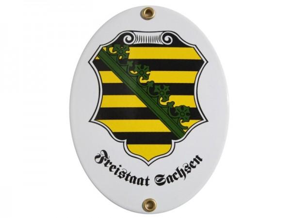 Freistaat Sachsen Emaille Schild Nr. 2074