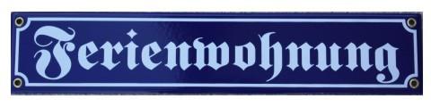 Ferienwohnung Emaille Schild Nr. 1028