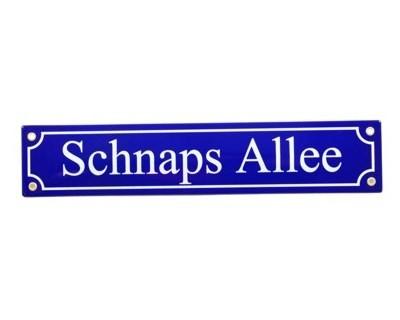 Schnaps Allee Emaille Schild Straßenschild Nr. 833