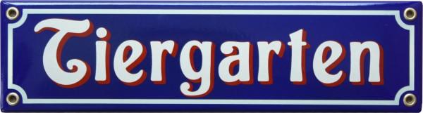 Tiergarten Emaille 8 x 30 cm Schild Nr. 1021