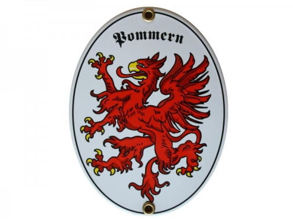 Pommern Emaille Schild Nr. 1716