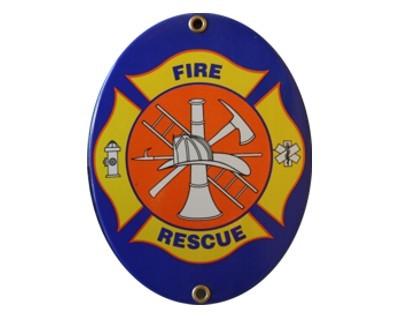 """Feuerwehr Emaille Schild """"Fire Rescue"""" Nr. 1815"""