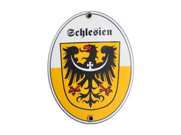 Schlesien Emaille Schild (ohne Holzrahmen) Nr. 1735