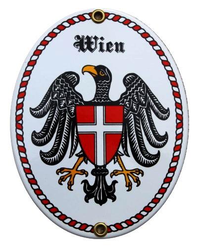 Wien Emaille Schild Nr. 1038