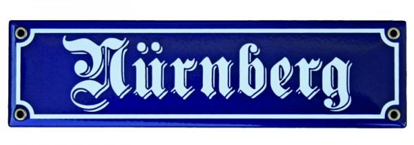 Nürnberg Emaille Schild 8 x 30 cm Nr. 1014