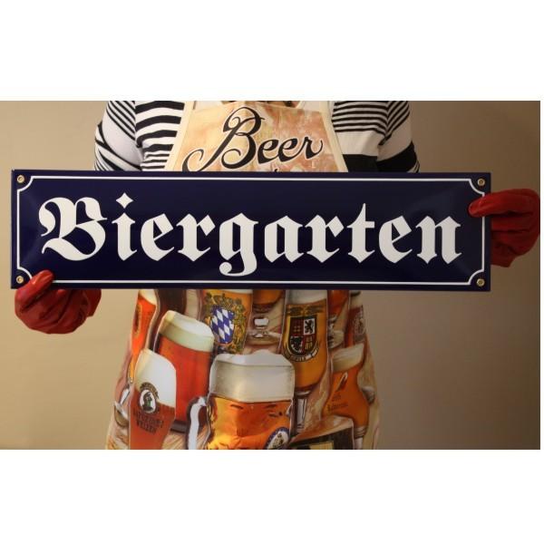 Biergarten XXL Emaille Schild Straßenschild Nr. 1790