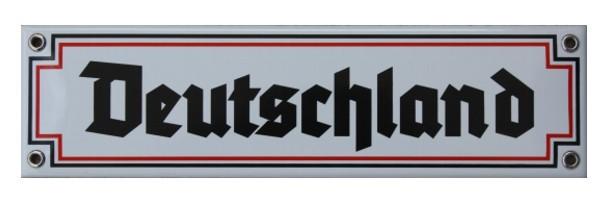Deutschland Emaille Schild Nr. 1282