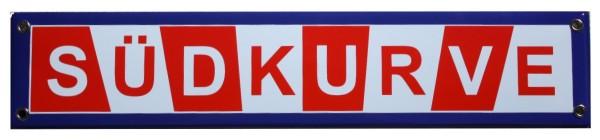 Südkurve Fußball Fan 8 x 40 cm Emaille Schild Nr. 1208
