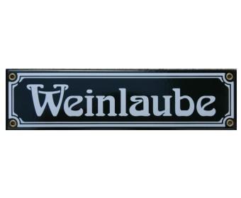 Weinlaube Emaille Schild Jugendstil dunkelgrün Nr. 1283