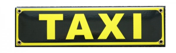TAXI Emaille Schild Nr. 1718