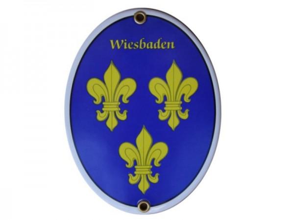 Wiesbaden Emaille Schild Nr. 1700