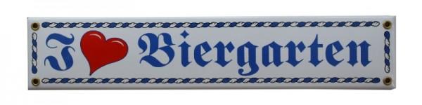 I ♥ Biergarten Emaille Schild Nr. 1686