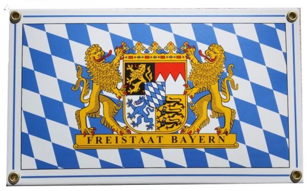 Freistaat Bayern Emaille Emailschild Nr. 1218