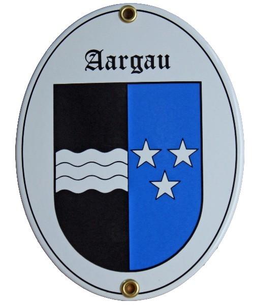 Kanton Aargau Emailschild Nr. 7701