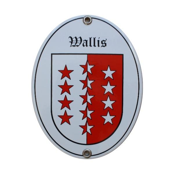 Kanton Wallis Emailschild Nr. 7724