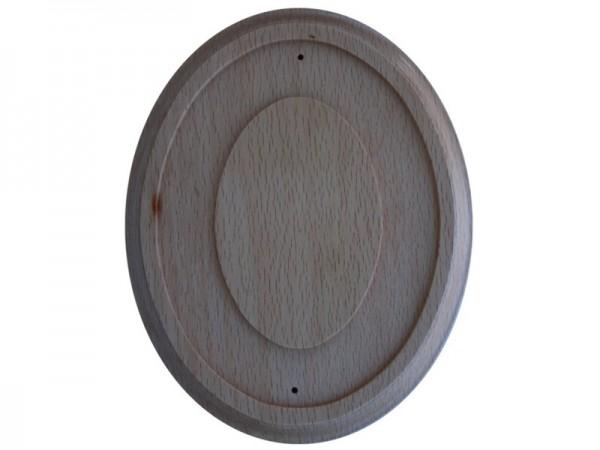 Holz Rahmen Oval Buche 15 x 18,5 cm Wandhalter für 11,5 x 15 cm Emaille Schilder Nr. 1998 B