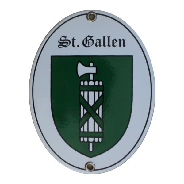 Kanton St. Gallen Emailschild Nr. 7719