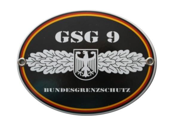 GSG 9 Bundesgrenzschutz Emaille Schild Nr. 1277