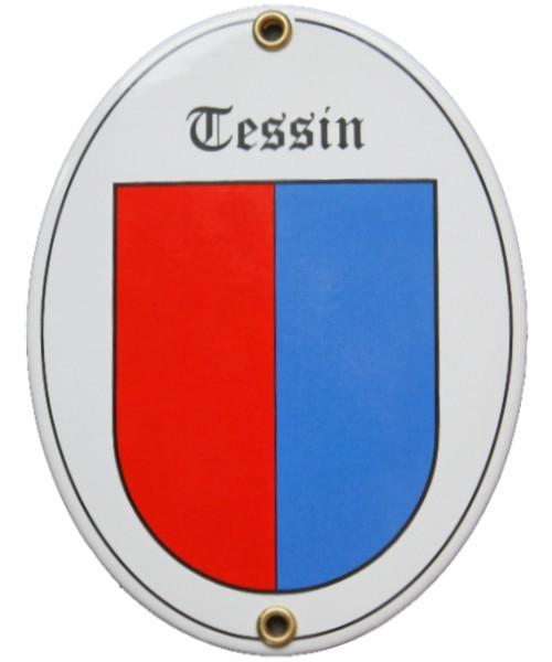 Kanton Tessin Emailschild Nr. 7720