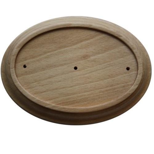 Holz Rahmen Oval Buche 10 x 13,5 cm Wandhalter für 7 x 10,5 cm Jugendstil Emaille Schilder Nr. 806 B