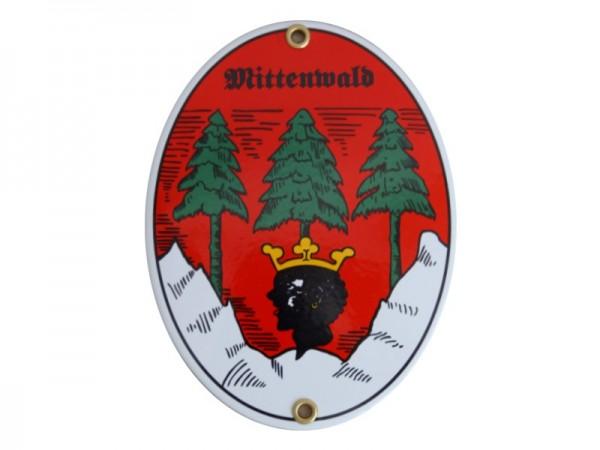 Mittenwald Emaille Schild Nr. 1730